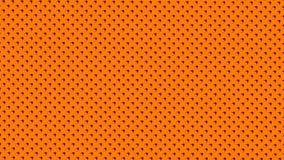 A symétriquement distribué les points ou les boules rayés blancs rouges sur le fond orange illustration libre de droits