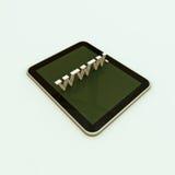 symbal 3d全球资讯网的互联网 免版税库存图片