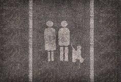 Symble供家庭使用仅打算的停车位 免版税库存照片