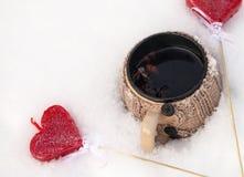 Symblols de tasse et d'amour Images stock
