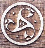 Symbo céltico del triskele Fotos de archivo libres de regalías