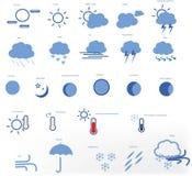 Symbol Ä°mage för vädersymbolsvektor royaltyfria bilder
