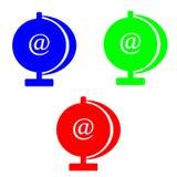 @symbol концепции интернета изолированное на белой предпосылке Стоковое Изображение RF