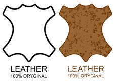 Symbol 100 Leather Product Sign Icon Grunge Royalty Free Stock Photo