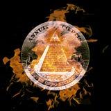 Symbol. Digital composition of a burning symbol Royalty Free Stock Images