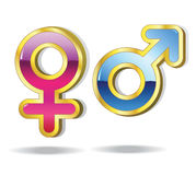 Symbol. Set of gender symbols. Male and female. Vector Stock Images