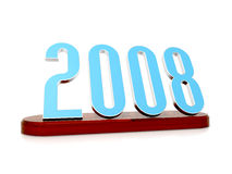 Symbol of 2008. 3d scene of the numerals 2008 on stand stock illustration