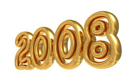 Symbol 2008 des neuen Jahres Stockbild