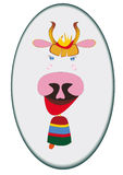 Symbol 2009. Funny cow portrait with bell stock illustration