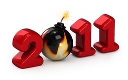 Symbol of 2011 year Stock Photography