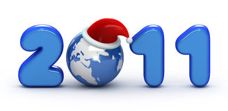 Symbol of 2011 year. Earth is ready for New Year Royalty Free Stock Photos