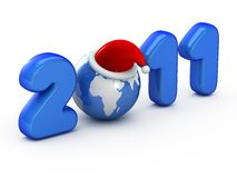 Symbol of 2011 year Stock Image