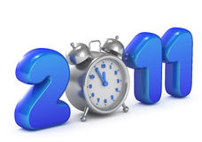 Symbol of 2011 year. Only five minutes left for New Year vector illustration