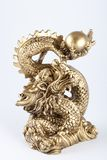 Symbol of 2012 - the Gold dragon Stock Images