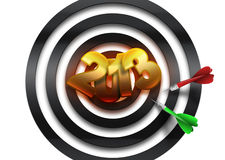 Symbol 2013. Figures 2013 in center of dartboard Stock Photography
