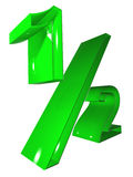 symbol 3D 012 green Royalty Free Stock Photos