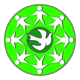 Symbol. A symbol of peace teamwork and love Royalty Free Stock Image