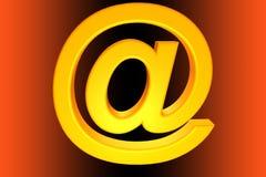@ symbol. 3d render of an @ symbol Stock Image