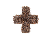 Symbol of the addiction made with a coffee beans Royalty Free Stock Image