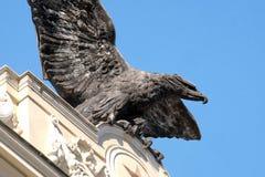 Symbol aeronautyka militarni Włoscy korpusy Palazzo ex Unione Militare w Rzym obrazy royalty free