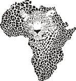 Symbol Africa in leopard camouflage Royalty Free Stock Photos