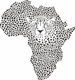 Symbol Afrika i gepardkamouflage Arkivbild