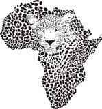 Symbol Afryka w lamparta kamuflażu Zdjęcia Royalty Free