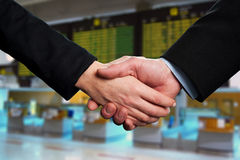 Symbol of agreement, business handshake Royalty Free Stock Photography