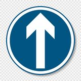 Symbol Ahead only sign on transparent background royalty free illustration