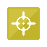 Symbol of aim to fire the gun accurately. Illustration Stock Photography