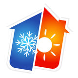 Symbol of air conditioning Royalty Free Stock Image