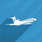 Symbol of The Aircraft and the City Stock Photo