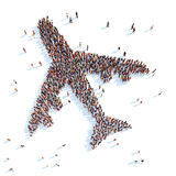 Symbol of airplane. Royalty Free Stock Images