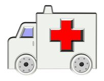 Symbol Ambulance, care Royalty Free Stock Image