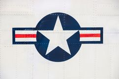 Symbol of american airforce. US airforce symbol on a plane stock photography
