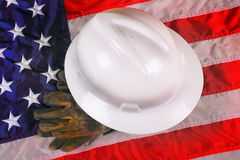 Symbol of American Blue Collar Worker Stock Photo