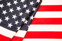 Symbol of American independence. Red white flag Stock Photos
