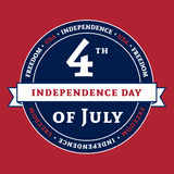 Symbol American 4th July holiday Independence Day. Symbol for American 4th July holiday, Independence Day celebration. Patriotic Typography Graphics. National Stock Images