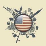 Symbol Ameryka Obrazy Royalty Free