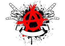 Symbol anarchy and gesture rock Stock Image