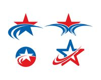 Star logo landscape template collection. Is a symbol associated with success, victory or rank Vector Illustration