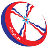 Symbol for the Assyrian community Stock Photography