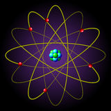 The symbol of the atom. Background Stock Photography