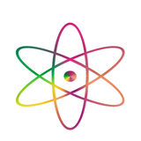 Symbol atom. This symbol atom the nuclear symbol consists ot tree parth symbol elemrnt protons,eletons,neutrons Stock Photography