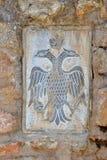 Symbol auf der Wand Stockbild