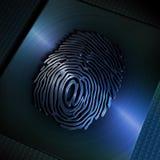 ?@? Symbol auf Fingerabdruck Lizenzfreie Stockfotografie
