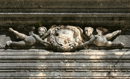 Symbol auf Palast stockbild