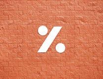 Symbol auf roter Wand Lizenzfreies Stockbild