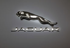 Symbol of automobile company Jaguar Stock Photography