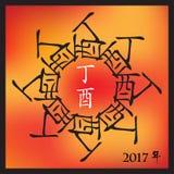 Symbol av 2017 Arkivfoto